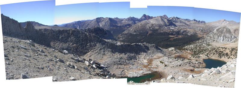 Panorama of view beyond pass