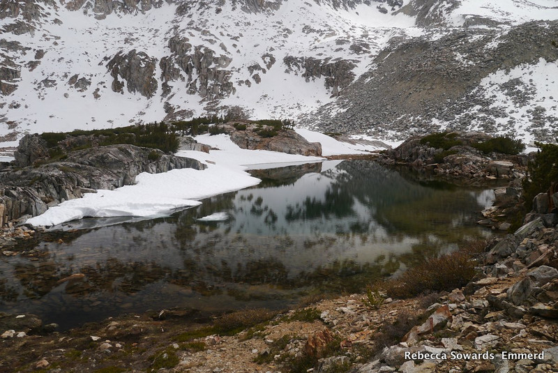 Snow and ice on the tarns.