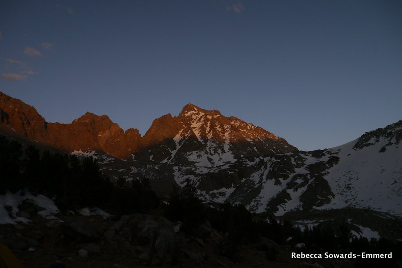 Mt Agassiz and Aperture Peak at sunset