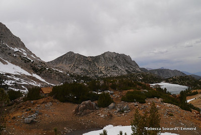Hurd and the small snow shelter in the area from camp.