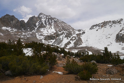View towards Bishop Pass and Mt Agassiz.