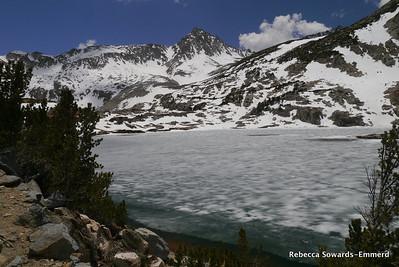 Saddlerock Lake was still mostly frozen.