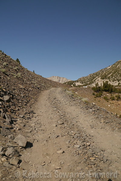 Part of the shelf road into Laurel Lakes. We parked the trucks at a pullout and then walked back to the trailhead to climb Bloody Mountain.