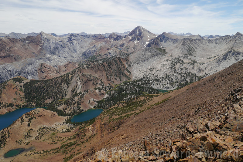 Lake Edith and a peek at Cloverleaf and Constance Lakes.