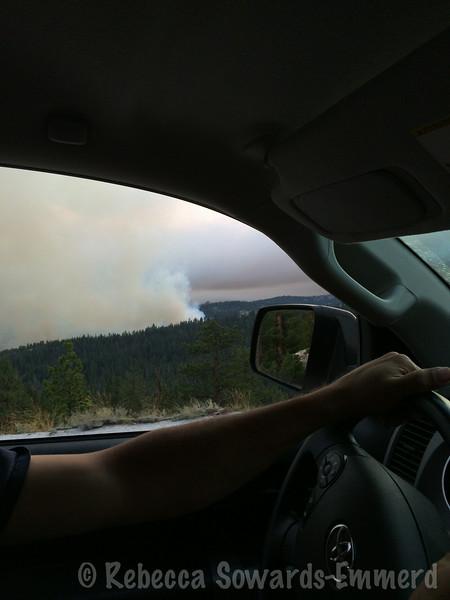 Yosemite Creek fire - lightning caused