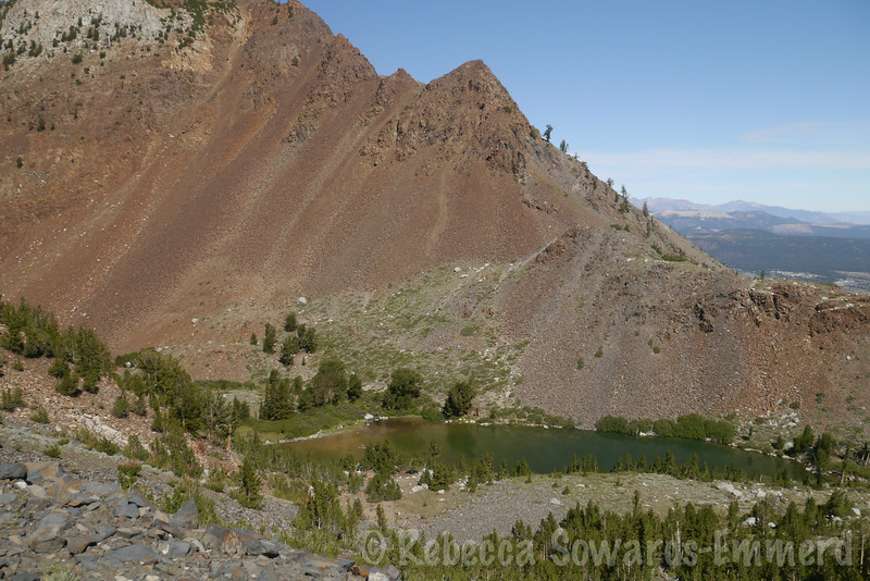Looking down on the lower Laurel Lake from the shelf road.