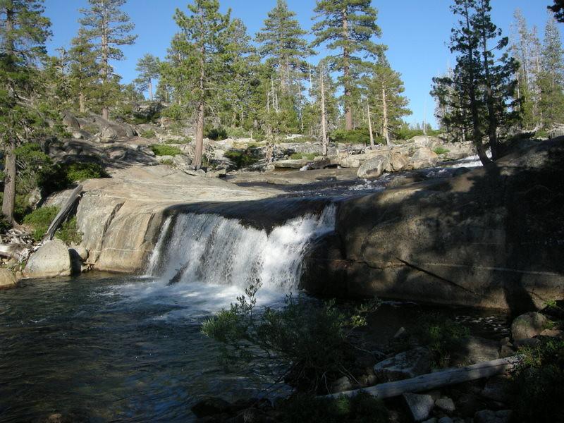 Falls between Rockbound Lake and Buck Island Lake