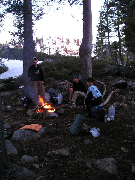 Campfire ring and kitchen