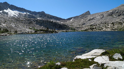 We had this whole basin all to ourselves. This is why it's great to get off the beaten path.