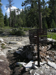 Typical Yosemite trailsigns