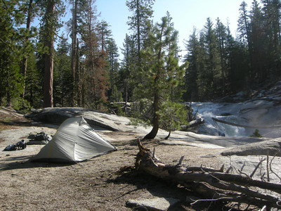 I really liked it here - a bit off trail and right by the creek.