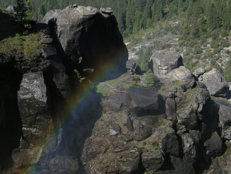 Rainbow above Chilnualna Falls