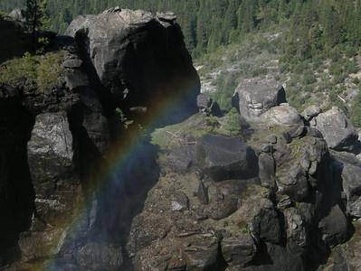 Rainbow above Chilnualna Falls