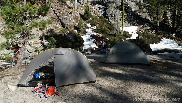 Camp by Chilnualna Creek