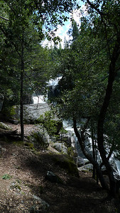 Starting up the trail - it climbs steeply by the lower falls before changing into a more gentle grade about 1/4 mile in.