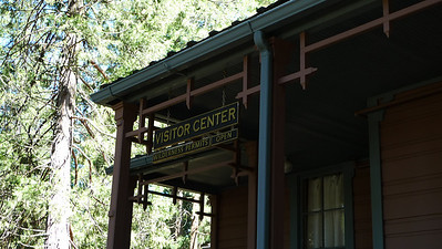 We stopped to pick up our permit in Wawona at the sometimes-hard-to-find visitor center.