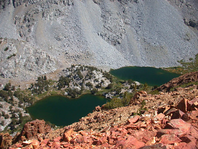 The Chocolate Lakes  Sitting below Chocolate Peak. We hiked by these lakes on the way out.