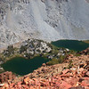 The Chocolate Lakes<br /> <br /> Sitting below Chocolate Peak. We hiked by these lakes on the way out.