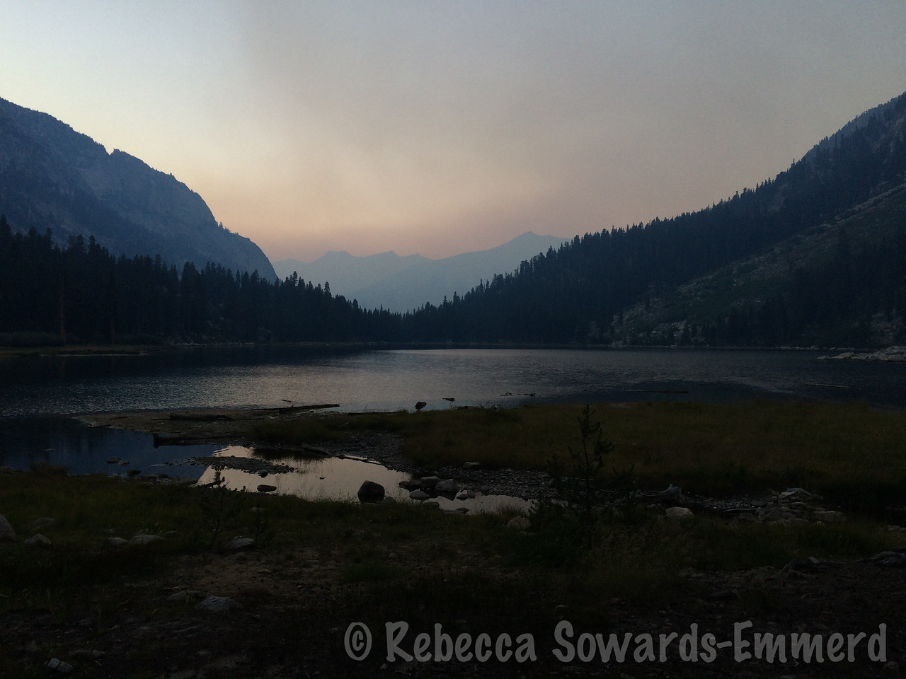Back at camp by sunset. And the sudden appearance of smoke is not a good sign.