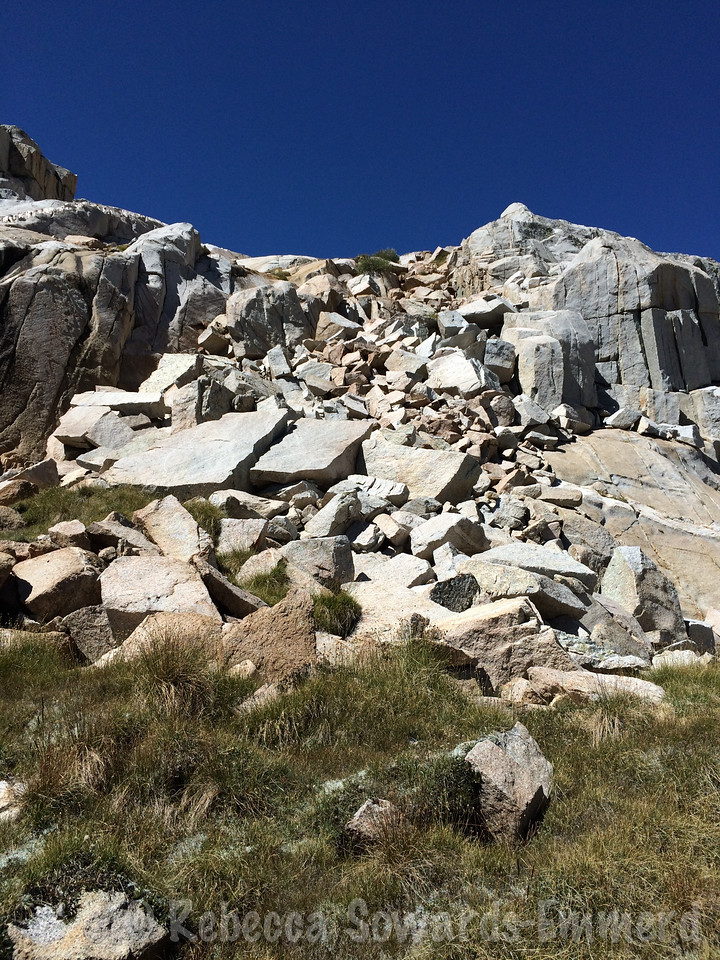 There were definitely boulders but it was almost always possible to bypass (at this point) on slabs.