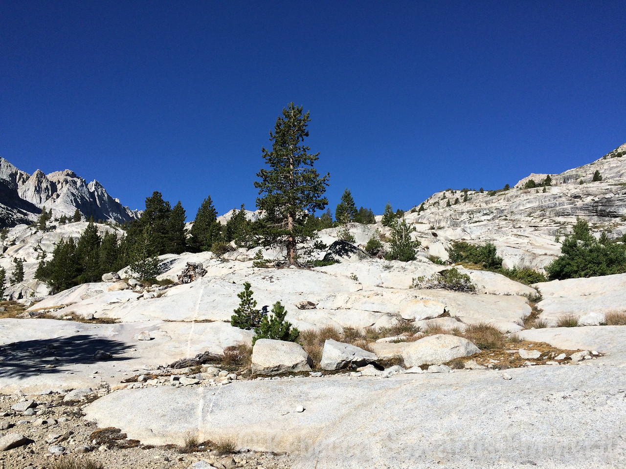 We headed up the east slopes of Mt Brewer through some beautiful slabs..