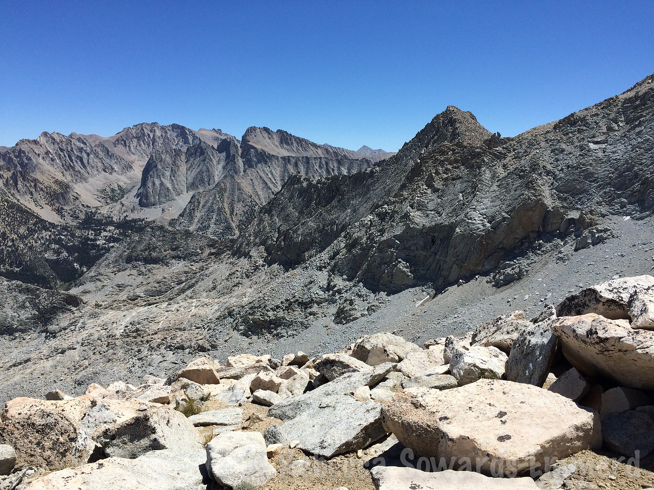 Looking towards the Kings-Kern divide