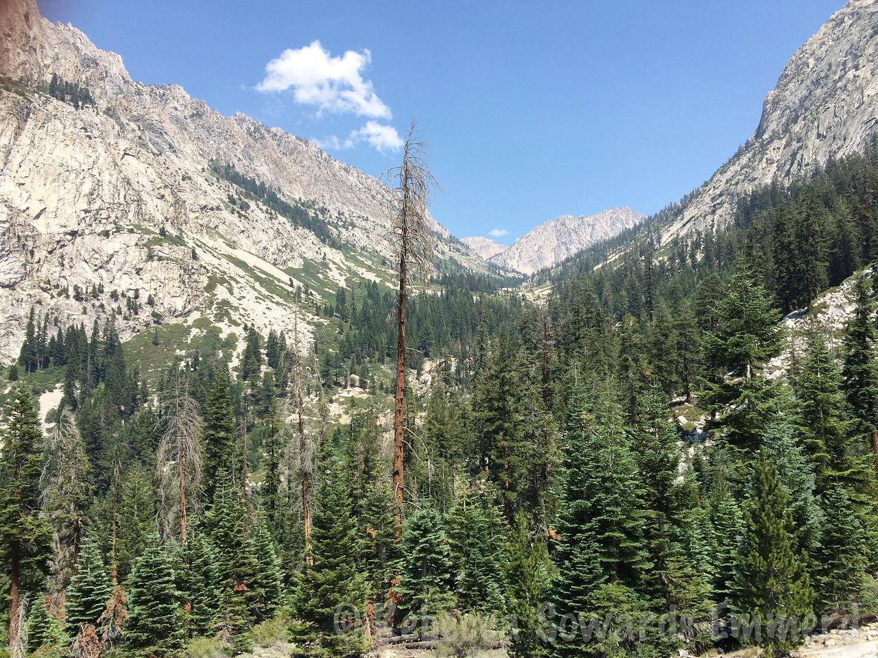 Climbing to east lake - great views