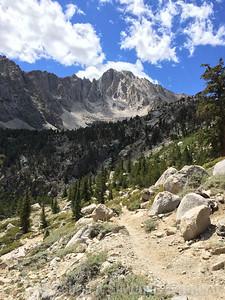 Climbing towards Kearsarge Pass