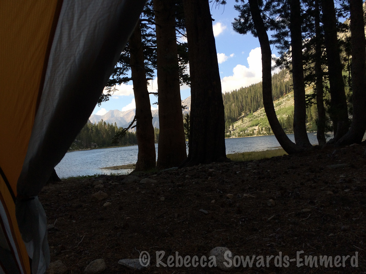 View from my tent - night 2 and 3