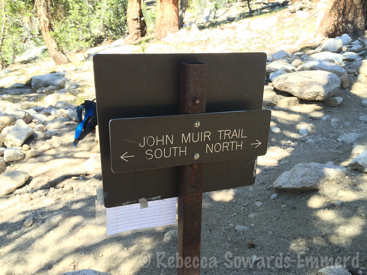 Back on the JMT again! I've hiked this small stretch so many times... we're heading south today.
