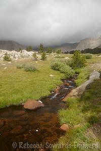 Beautiful meadow below South Fork Lakes