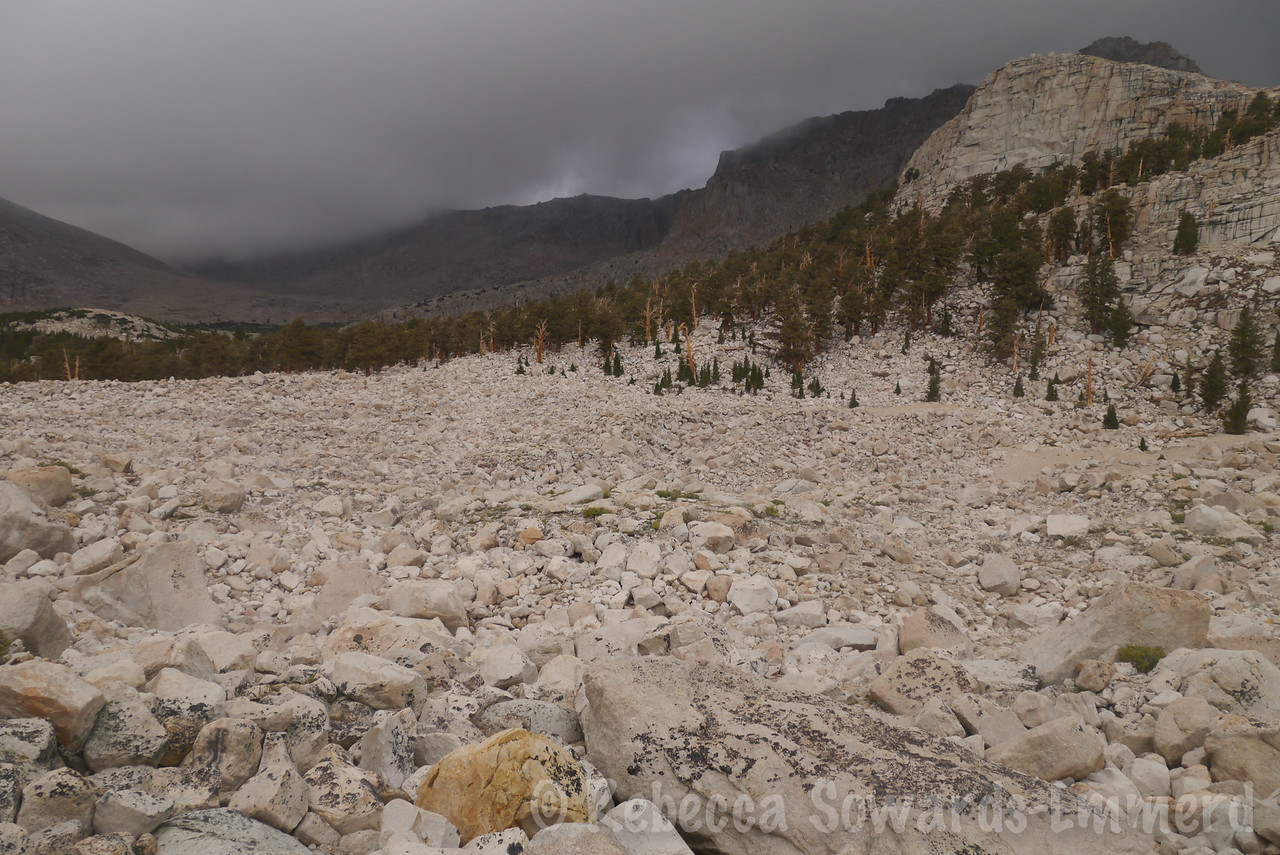 The aforementioned boulder field. Do NOT go straight towards Long Lake via South Lakes, or you'll be hopping this stuff for a while. Go over the ridge to the NE.