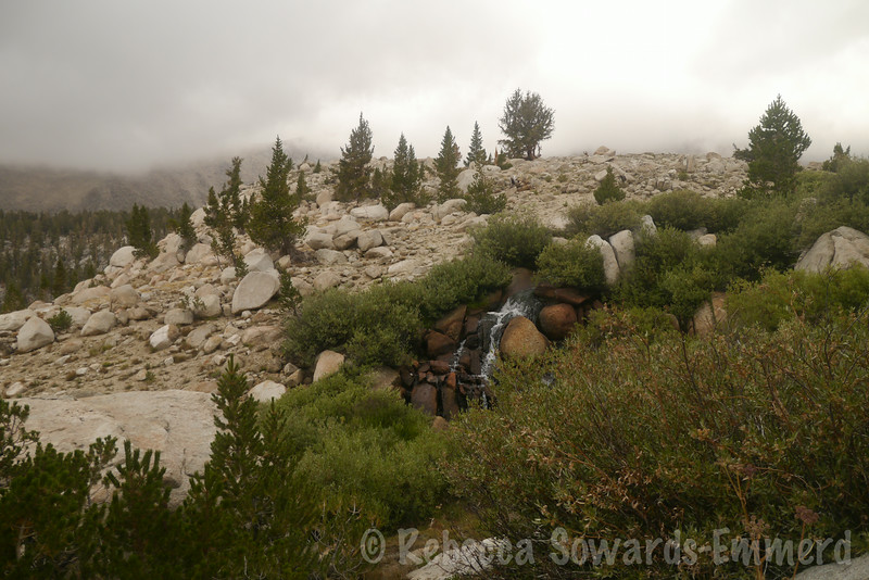 Waterfalls coming out of the lower South Fork Lake. Emerging into some beautiful terrain!