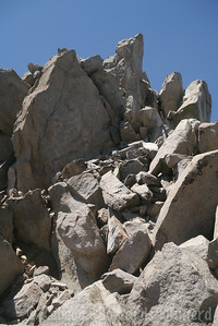 The final summit pile. It's described as class 3 but the way I went up was no more than class 2.