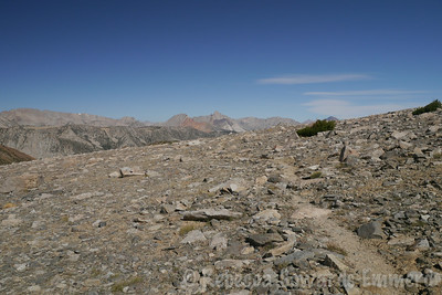 Looking back, I can see Mt Humphreys now.