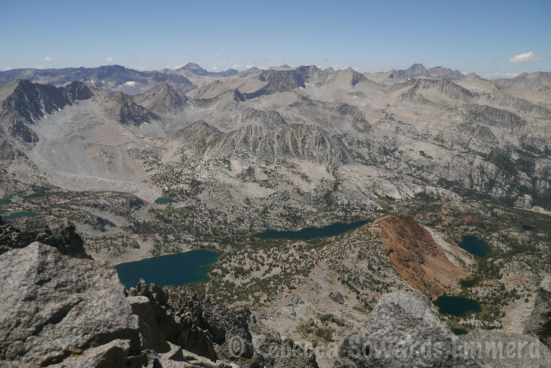 Bishop Creek Lakes, and the small Chocolate Peak in the middle. I think that was one of my first sierra peaks!
