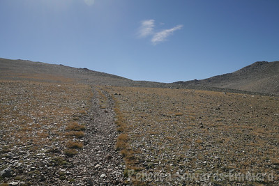 The trail across the plateau.