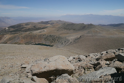 Looking down from the climb up Vagabond. Most of the route is visible.