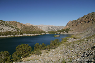 AS I start to climb the ridge on the far side of the lake I get a nice view of where I have just come from.