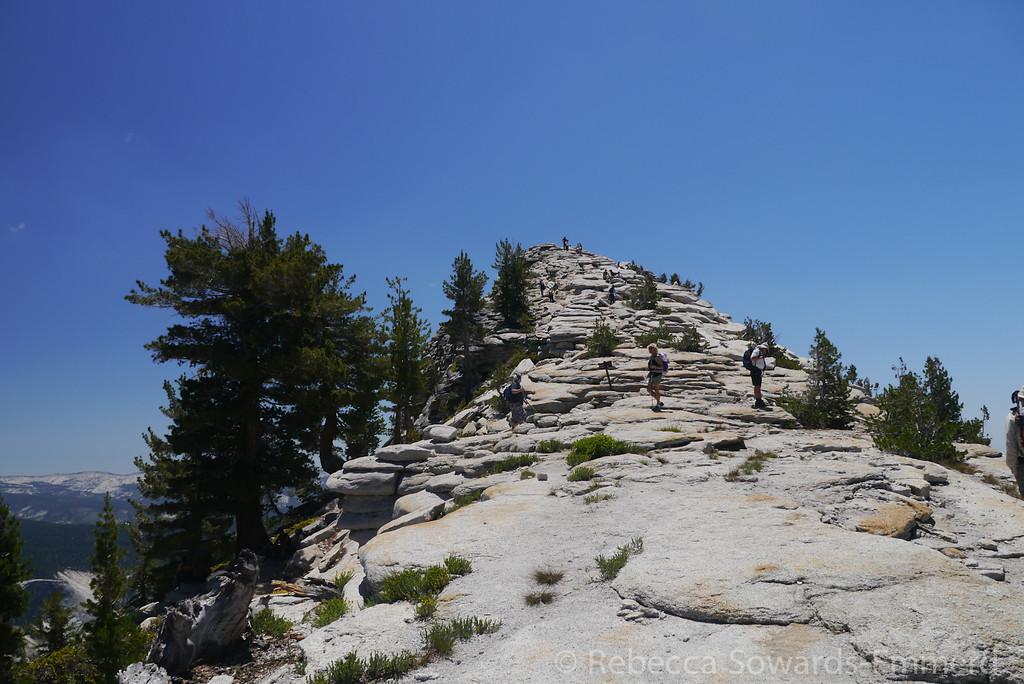 Approaching the final ridge.