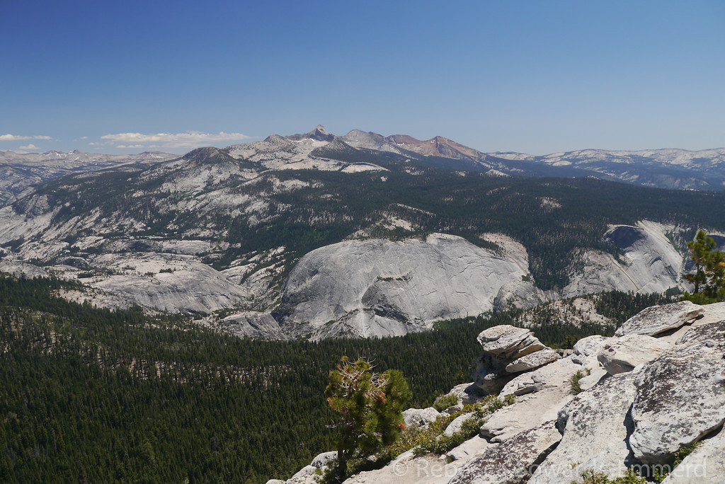 The Clark Range dominates the view to the South