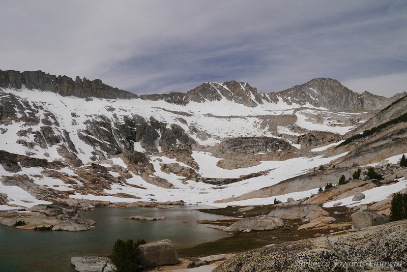 Looking across to Mt Conness and its glaciers.