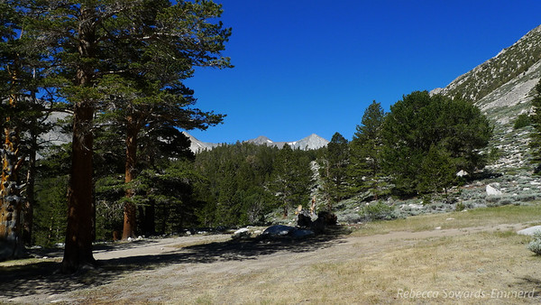 View of Cloudripper (left) and Vagabond (right) from camp.