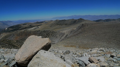 Looking back on the Hunchback. The Whites in the distance across Owens Valley.
