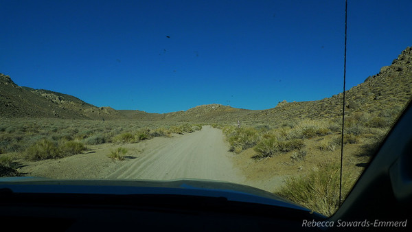 Heading out of Bishop, the road to Coyote Flats is sandy and smooth.