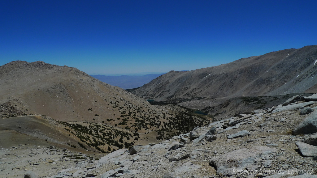 Looking back towards the Baker Creek Drainage.