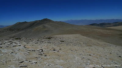 Looking back towards the plateau and the Hunchback.