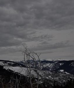 Clark Range in Black and White