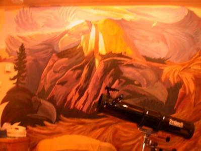 Mural in our room at the Groveland Inn