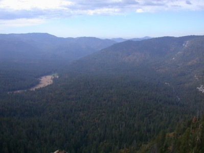 View from behind Mariposa Grove